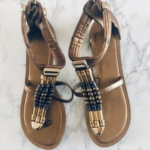Tory Burch Gold Gladiator Sandals